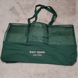 NWOT Kate Spade Green Mesh Reusable Tote